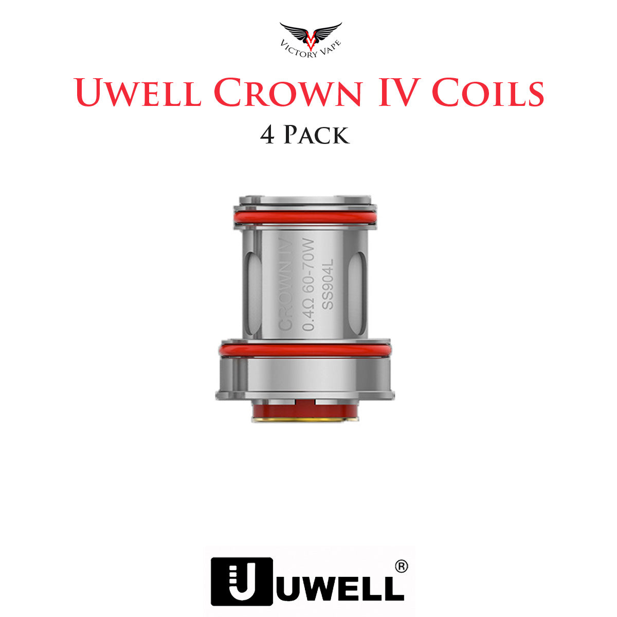 Uwell Crown IV Replacement Coils • 4 Pack