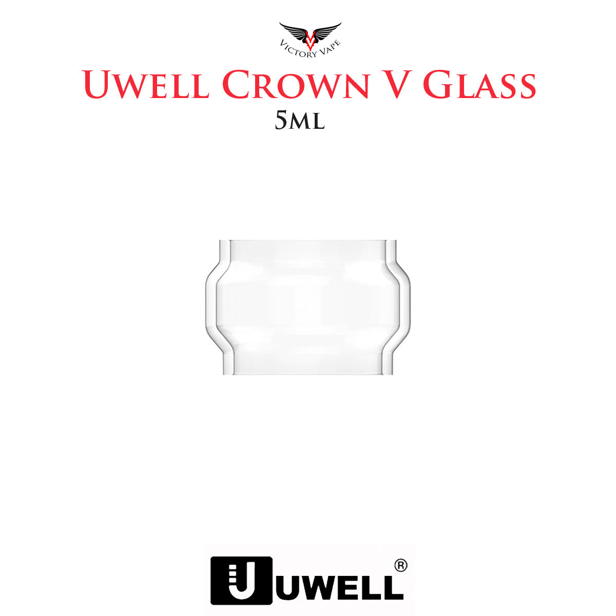 Uwell Crown V (5) • 5ml Replacement Glass