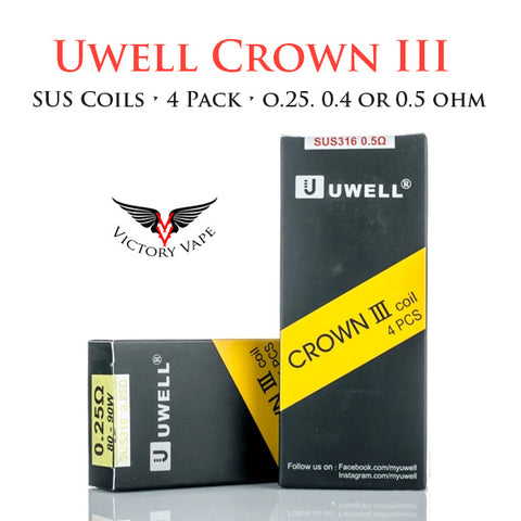 Crown III Replacement Coils • 4 pack