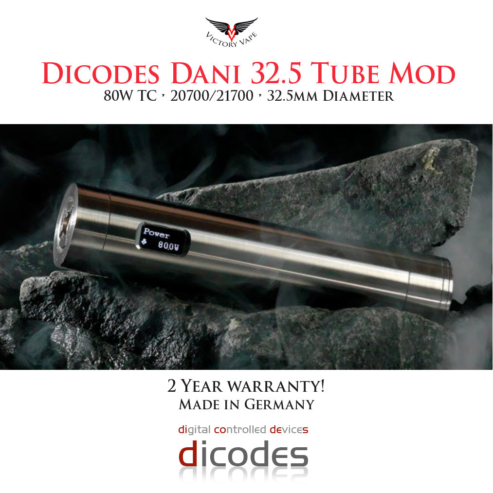 Dicodes NEW! Dani 32.5 80W vv/vw 21700 Tube Mod (made in Germany)