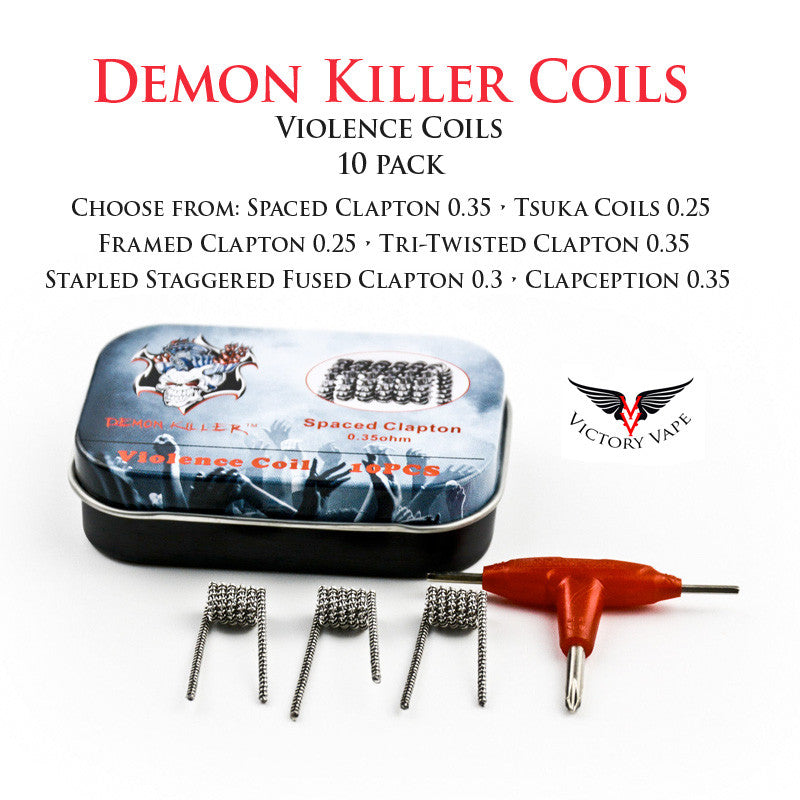 Demon Killer Prebuilt Violence Coils • 10 pack