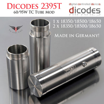 Dicodes 2395T 60W/90W TC vv/vw Tube Mod • stackable dual battery (made in Germany)