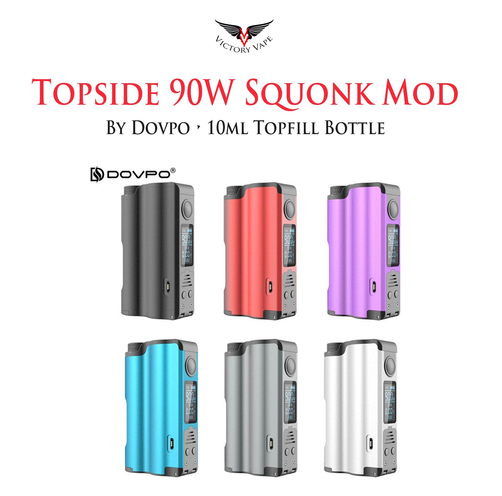 Dovpo Topside 90W Top Fill 10ml Squonk Mod