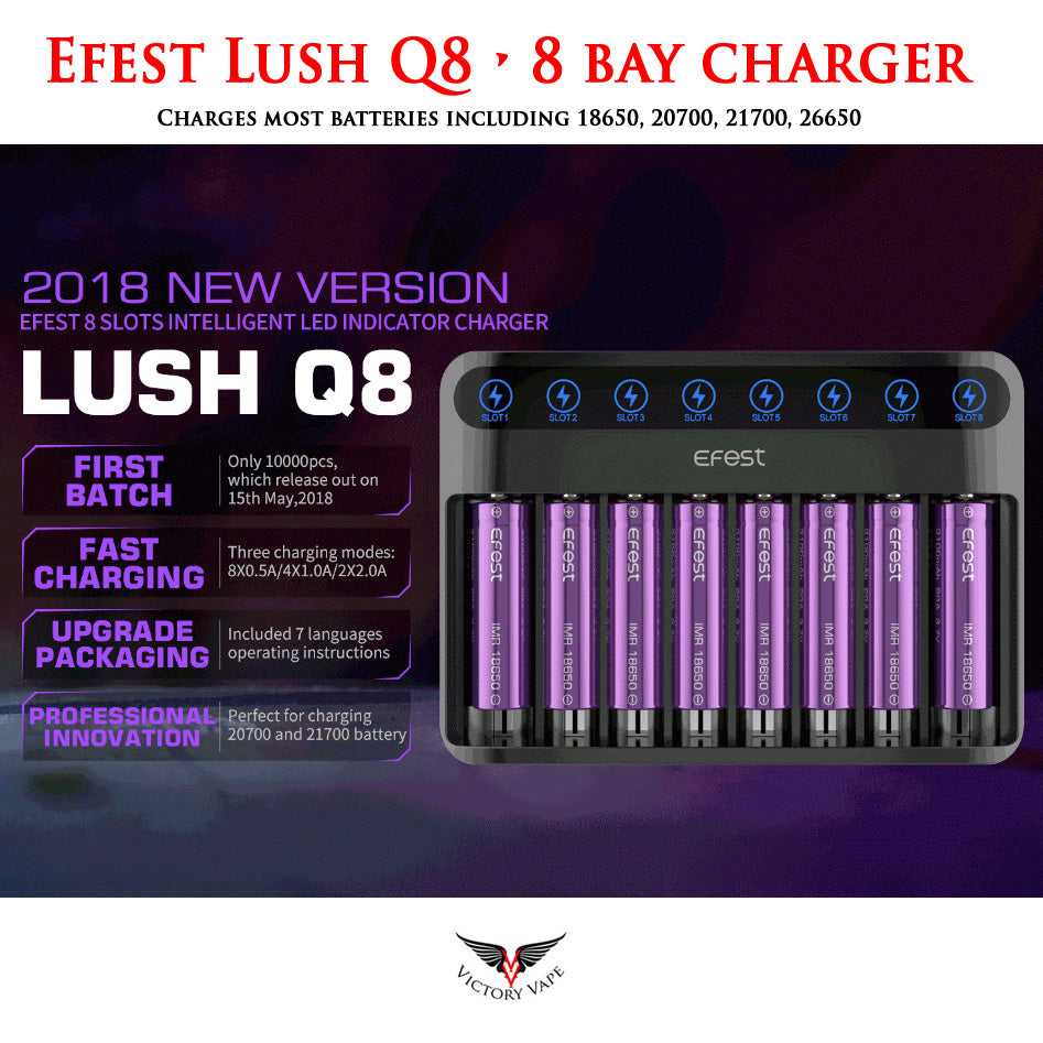 Efest LUSH Q8 • 8 bay charger