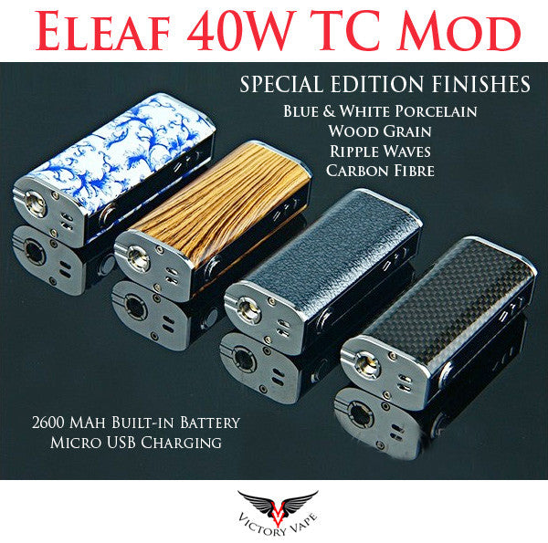 Eleaf iStick 40W TC • VV/VW Mod • 2600 mah • SPECIAL EDITION FINISHES
