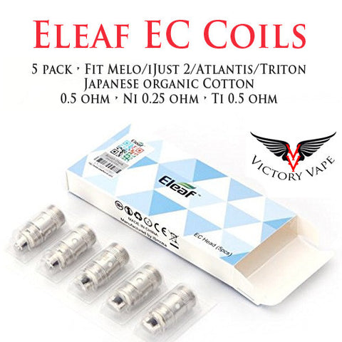 Eleaf EC Replacement coils • 5 pack • (fit Atlantis, Triton, Melo, IJust 2, iJust S)