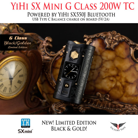 YiHi SX Mini G Class 200W TC vv/vw Mod • Powered by YiHi SX550J • Bluetooth
