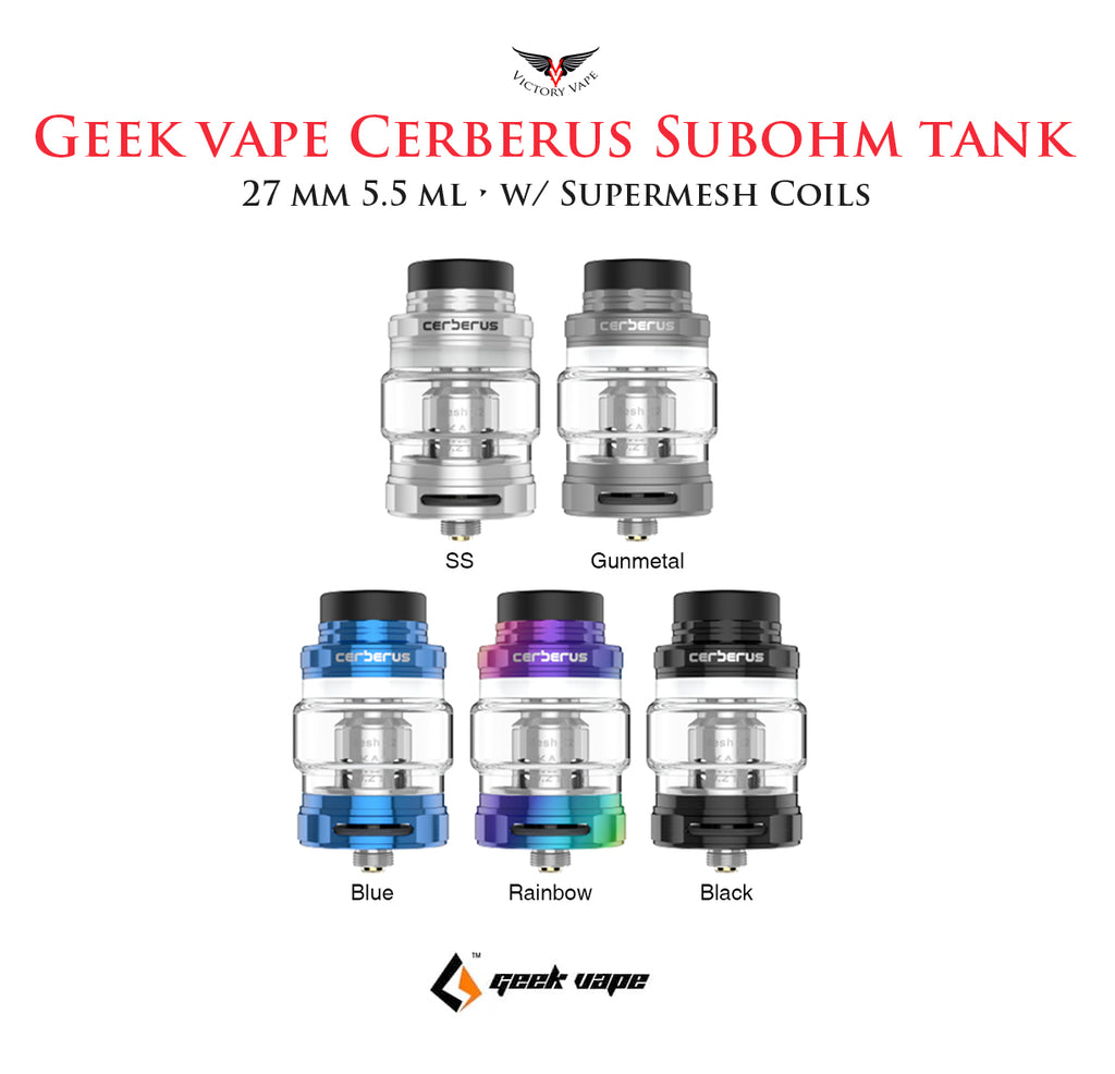 Geek Vape CERBERUS Supermesh Subohm Tank • 27mm 5.5ml