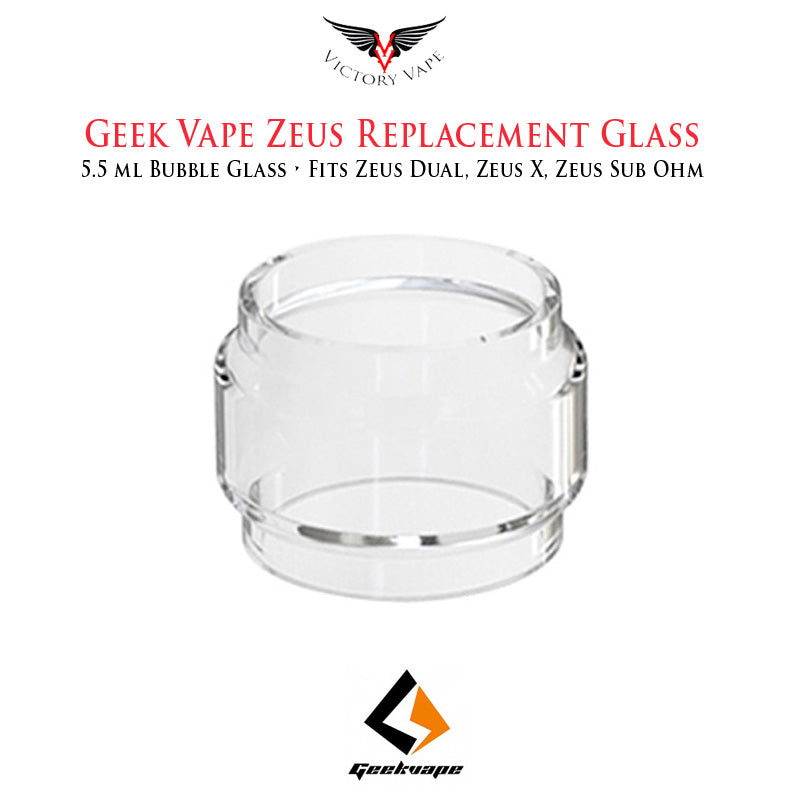 Geek Vape Zeus Replacement Glass • 5.5ml bubble