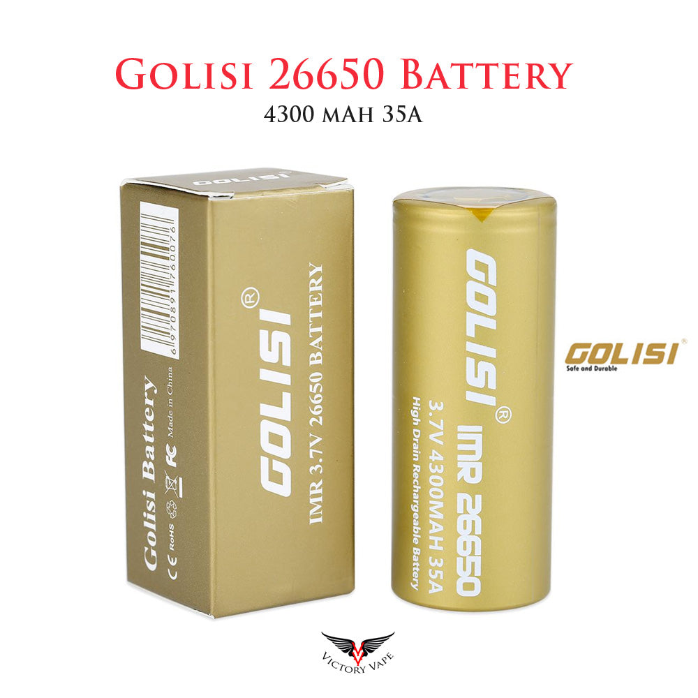 Golisi S43 IMR 26650 rechargeable battery • 4300mAh 35A