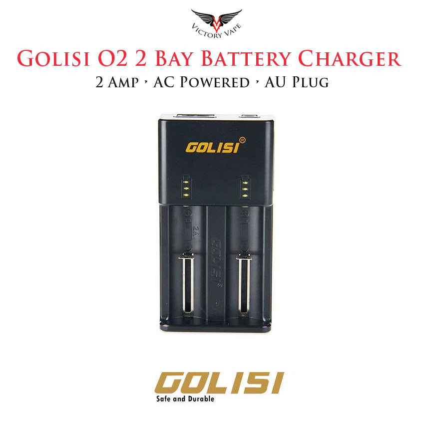 Golisi O2 Intelligent Battery Charger • 2 bay AC powered 2A