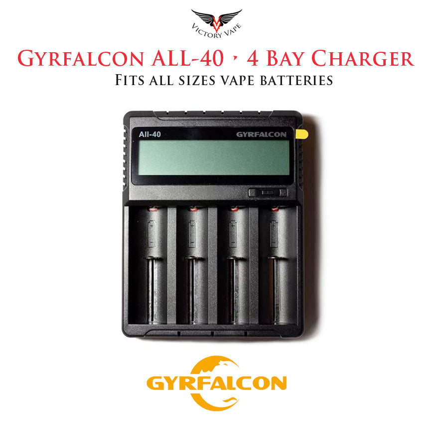 Gyrfalcon All-40 Quad Bay USB Battery Charger • 4 Bay