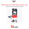 Hellvape Cotton Wick Travel Set • 2 Strips cotton w/ Scissors & Tweezers