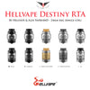 Hellvape x Alex VapersMD • DESTINY RTA • 24mm 4ml (single coil)