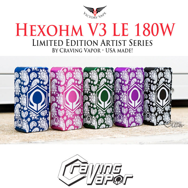 Craving Vapor Hexohm V3 180W vv Mod • Limited Edition Artist Series