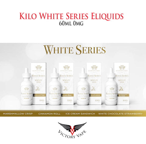 KILO White Series Eliquids • 60ml 0mg 70% VG