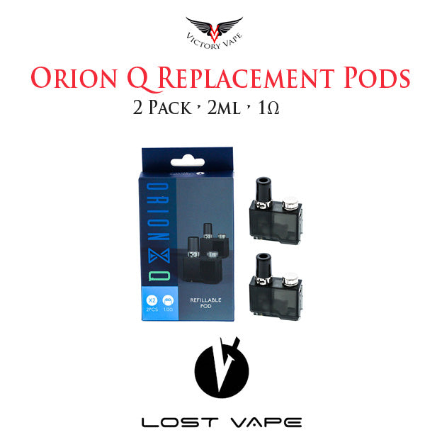 Lost Vape Orion Q Replacement Pod Cartidges • 2 Pack 2ml