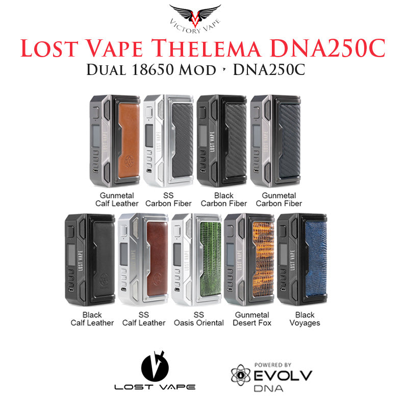 Lost Vape Thelema  DNA250C vv/vw Mod • dual 18650