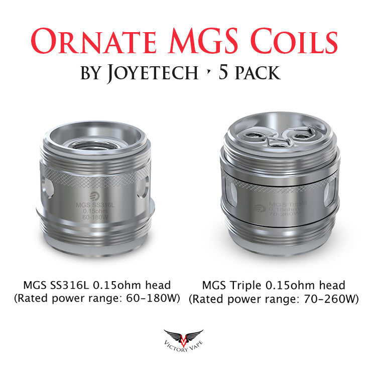 Ornate MGS Replacement Coils • 5 pack