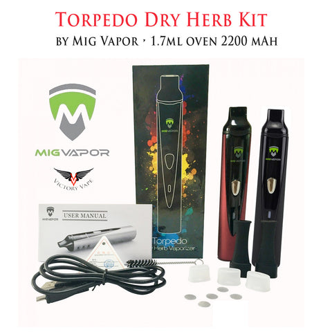 Torpedo Dry Herb Kit by Mig Vapor • 1.7ml 2200 mAh