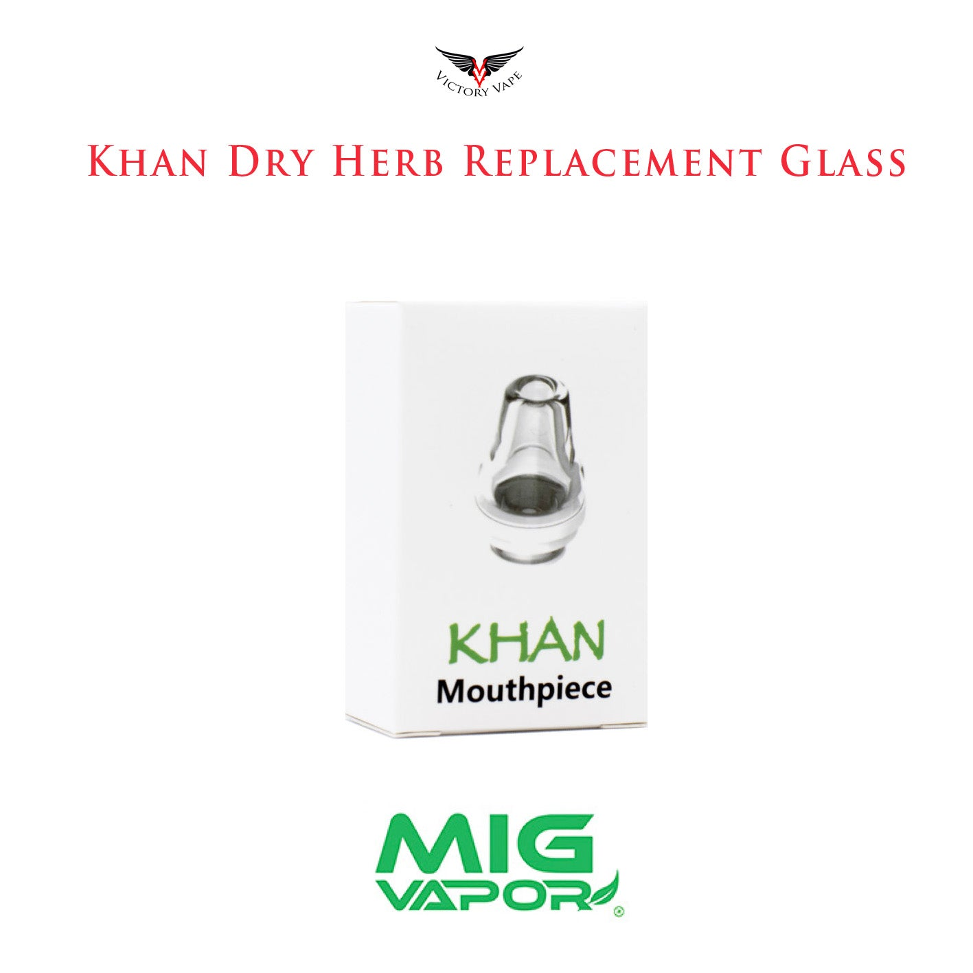 The Khan Dry Herb Glass Mouthpiece Replacement