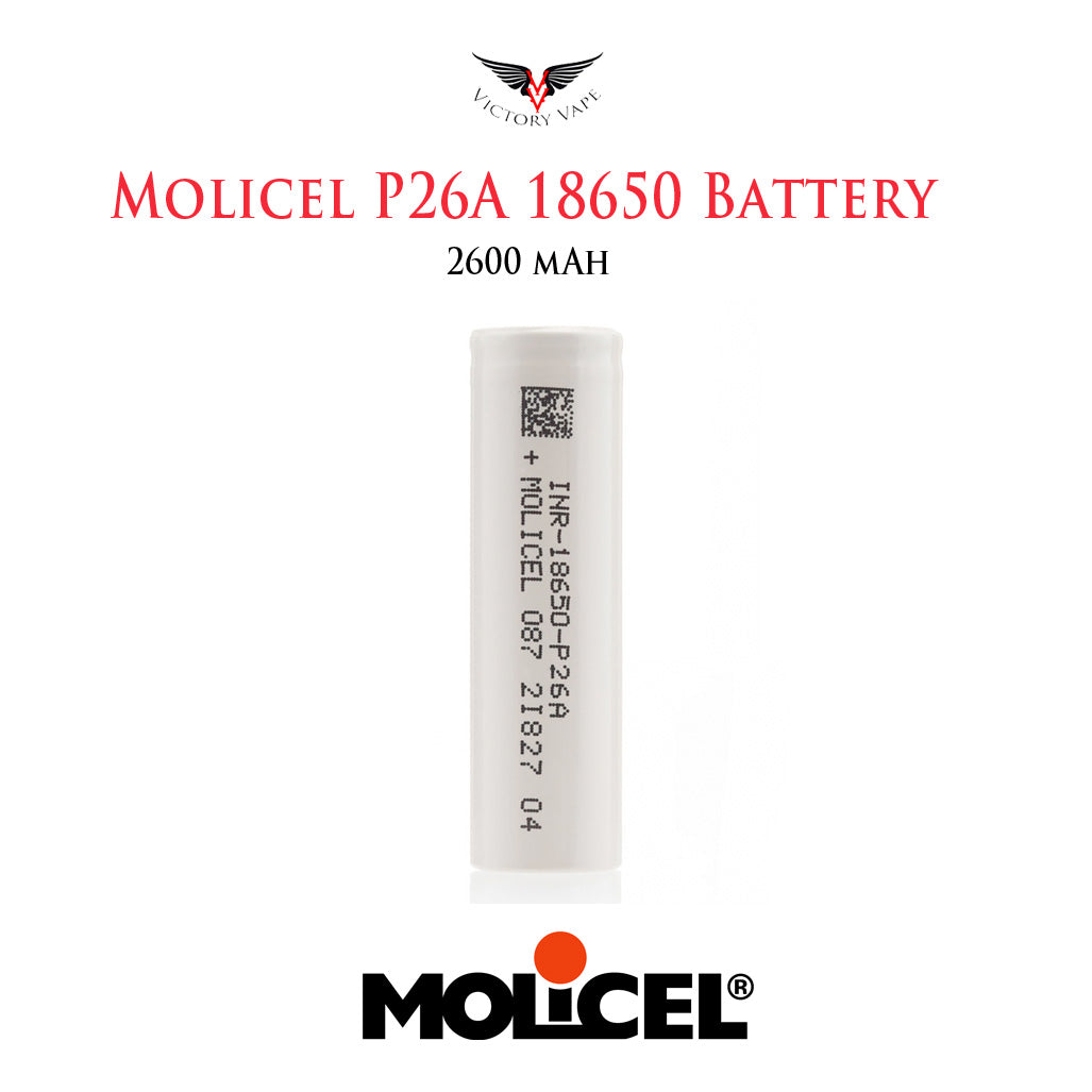 Molicel P26A 18650 Battery • 2600 mAh