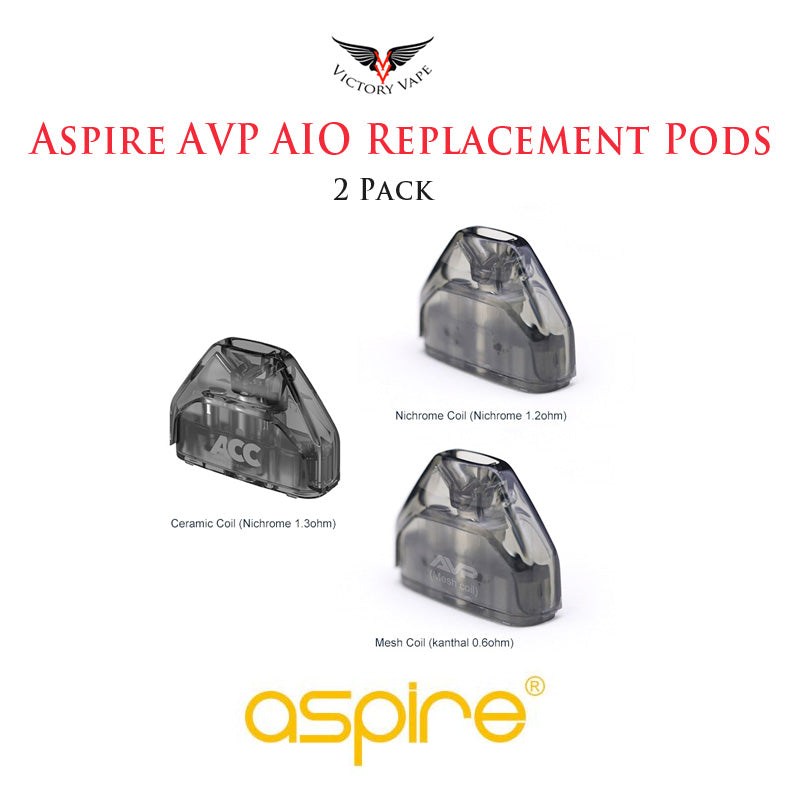 Aspire AVP AIO Replacement Pod • 2 Pack 2ml