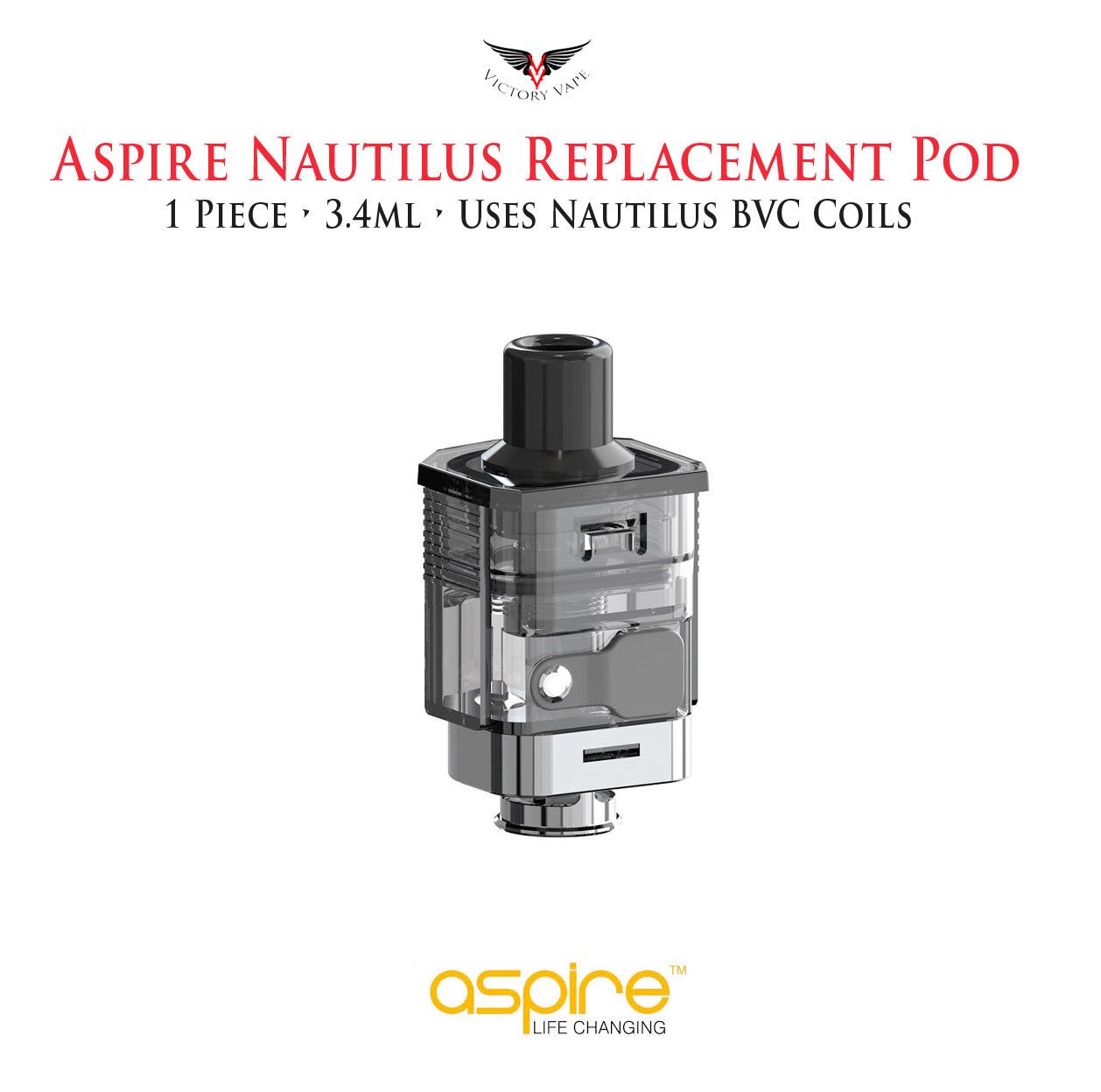 Nautilus Prime Empty Pod Cartridge • 3.4ml