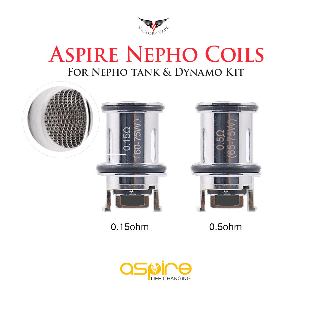 Aspire Nepho Coils • 3 Pack (for Dynamo Kit)