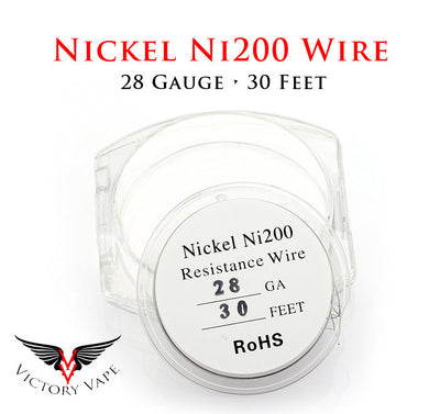 Ni200 Nickel Wire for TC • choose 22, 24, 26, 28, or 30 Gauge - 10m/30ft spool