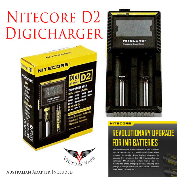 nitecore d2 charger battery charger