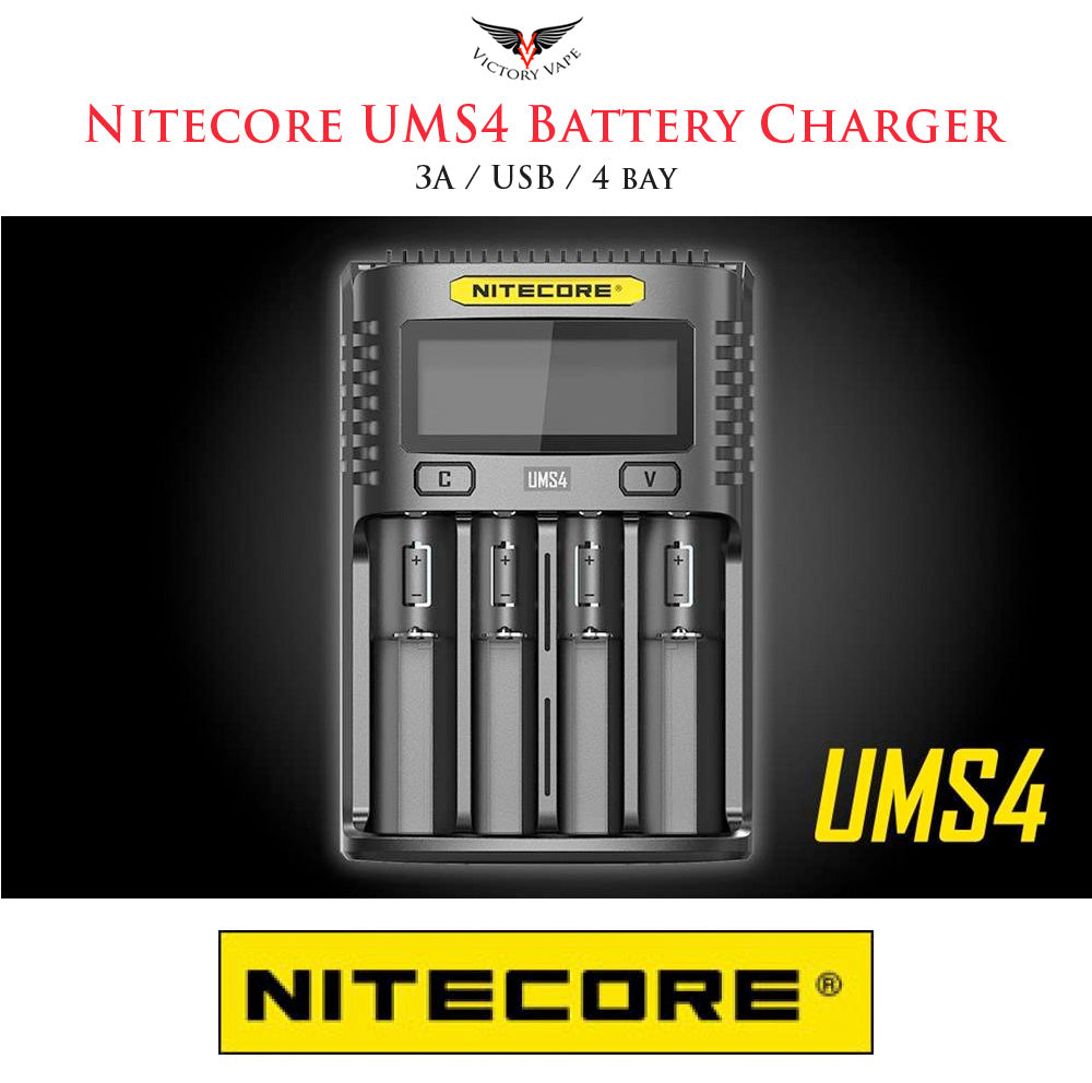 Nitecore USM4 Battery Charger • USB / 3A / 4 bay