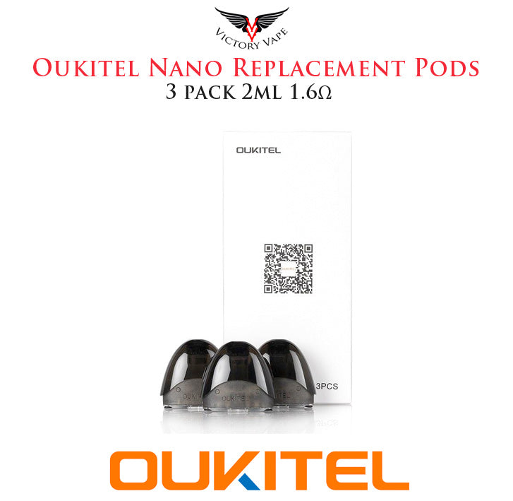Oukitel Nano Replacement Pods • 3 Pack 2ml 1.6Ω