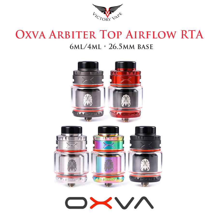 OXVA Arbiter top airflow RTA • 26.5mm base 6ml/4ml