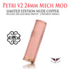 Petri v2 Mech Mod 24mm • w/ 24K Gold Driptip & 2 different springs