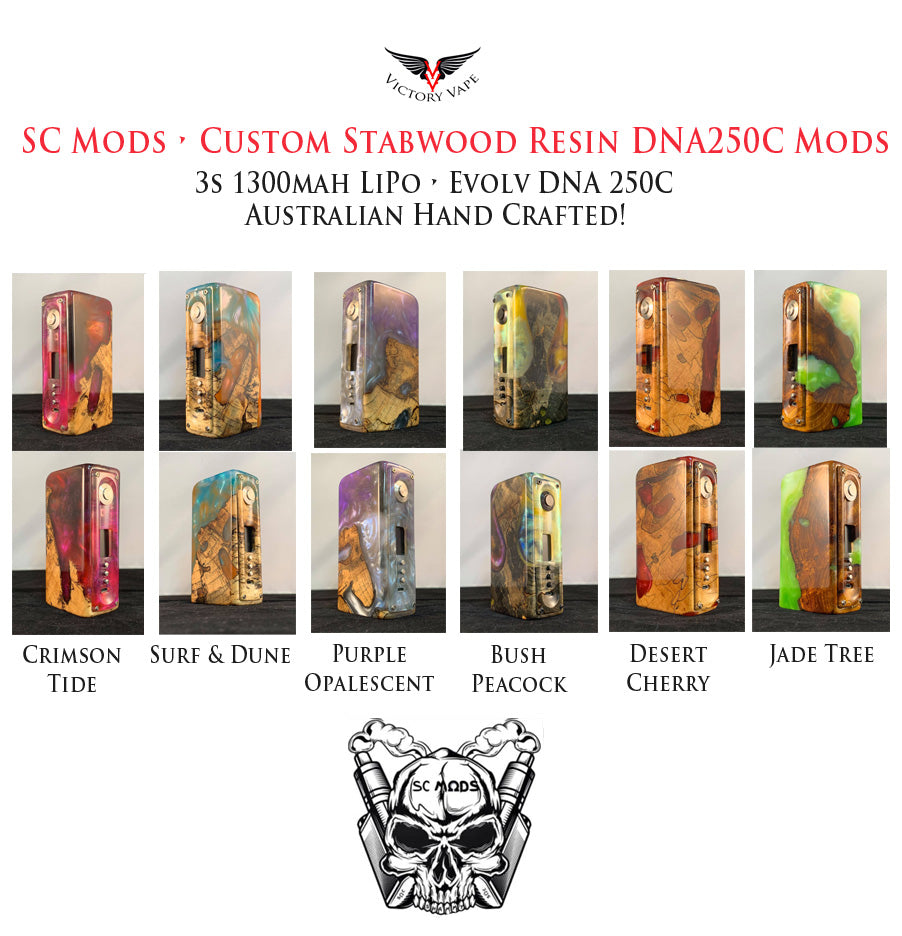 SC Mods • Custom Stabwood / Resin DNA 250C vv/vw (Australian Custom Made)