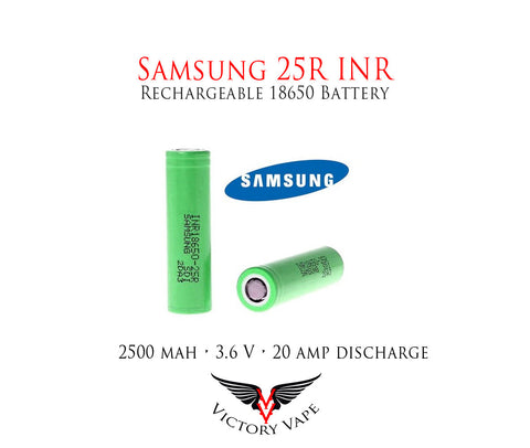 Samsung INR 25R 18650 3.6V 2500mAh Rechargeable Battery