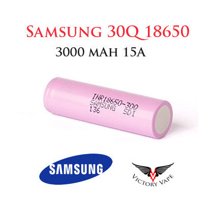 Samsung 30Q 18650 rehargeable battery • 15A  3000 mAh