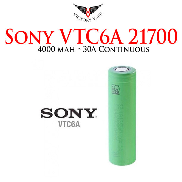 SONY VTC6A 18650 Battery • 3000 mAh 20A continuous