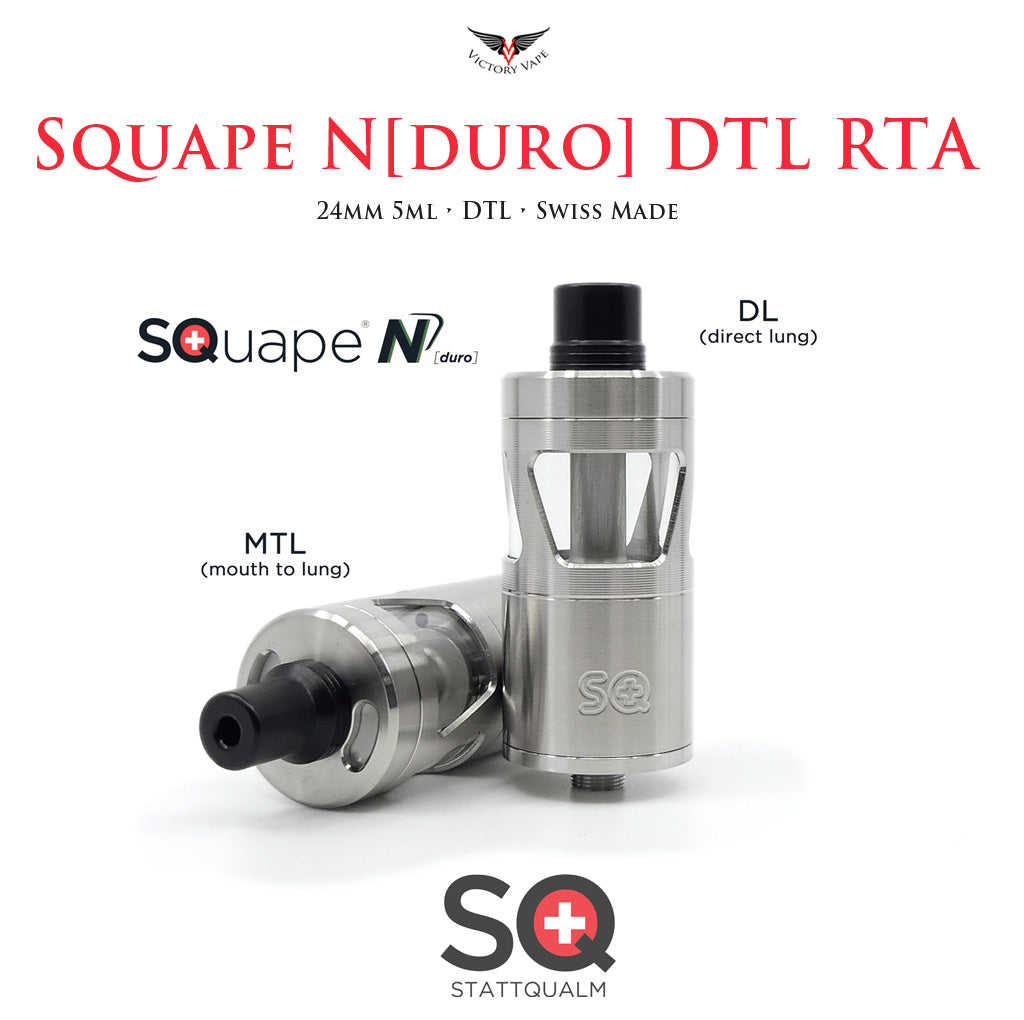 "SQuape N[duro] ""DL"" (direct lung) RTA • 24mm 5ml"
