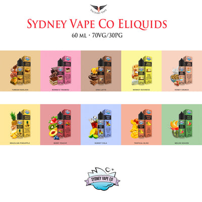 Sydney Vape Co ICED Eliquids • 60ml 70VG/30PG