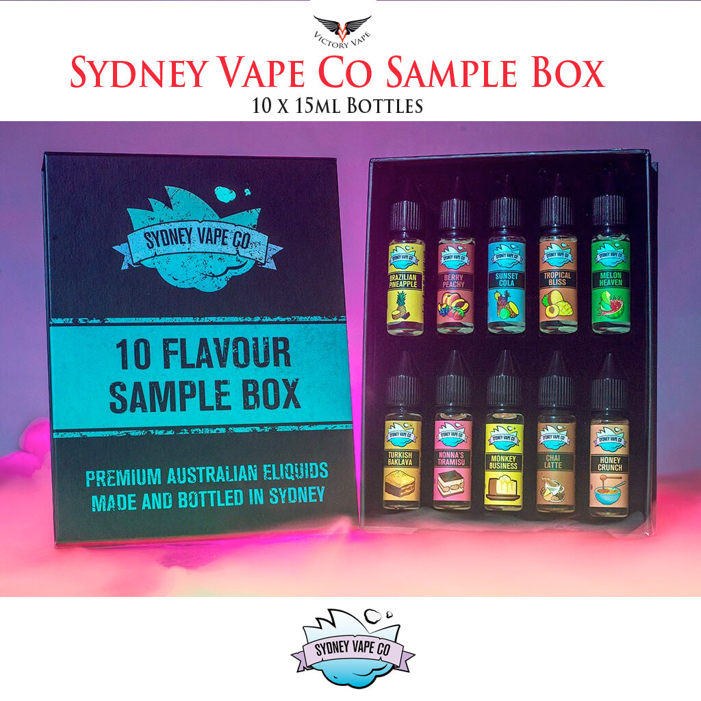 Sydney Vape Co Sample Box • 10 x 15ml in box