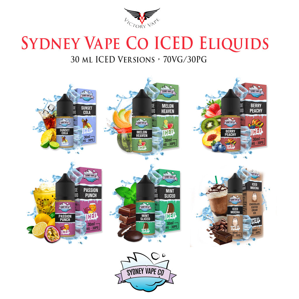 NEW! Sydney Vape Co ICED Eliquids • 30ml 70VG/30PG