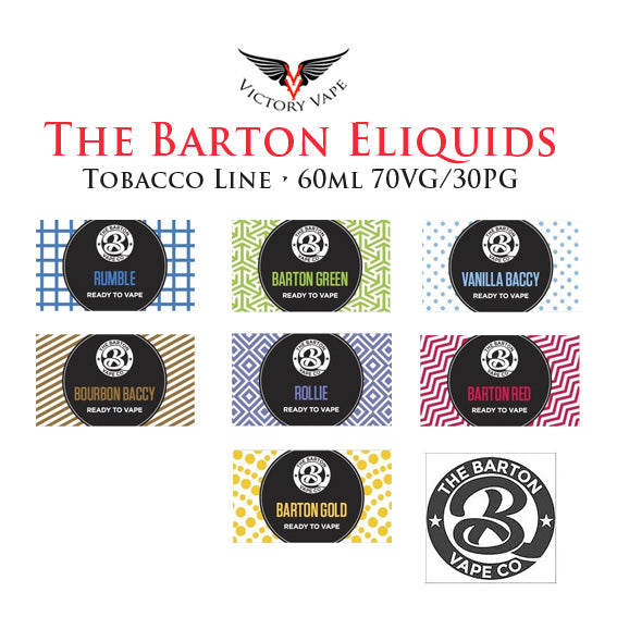 The Barton Tobacco Line Eliquids • 60ml 70VG/30PG (AUS)