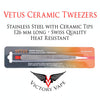 Ceramic Tweezers • Vetus Swiss Quality • 126 mm with Pointed Tip