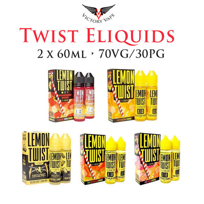 Twist Eliquids • 120m (2 x 60ml bottles) 70VG/30PG