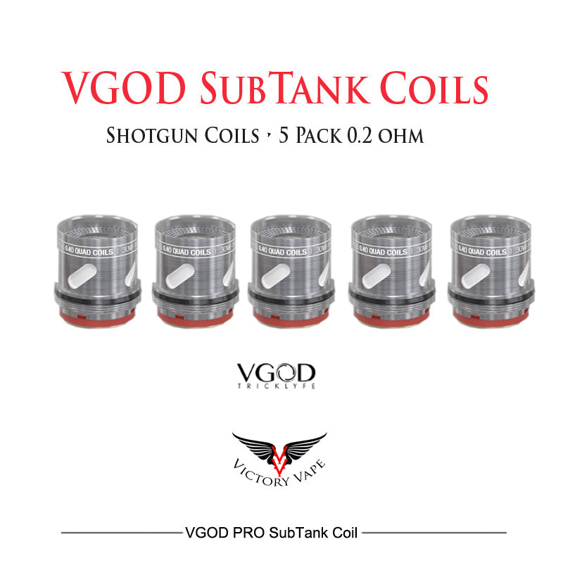 VGOD Pro SubTank replacement 0.2 ohm Shotgun coils 5 pack