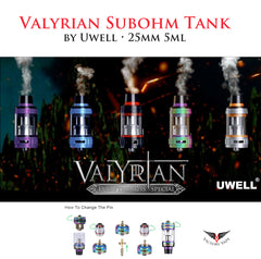 Uwell Valyrian Subohm Tank • 5ml 25mm