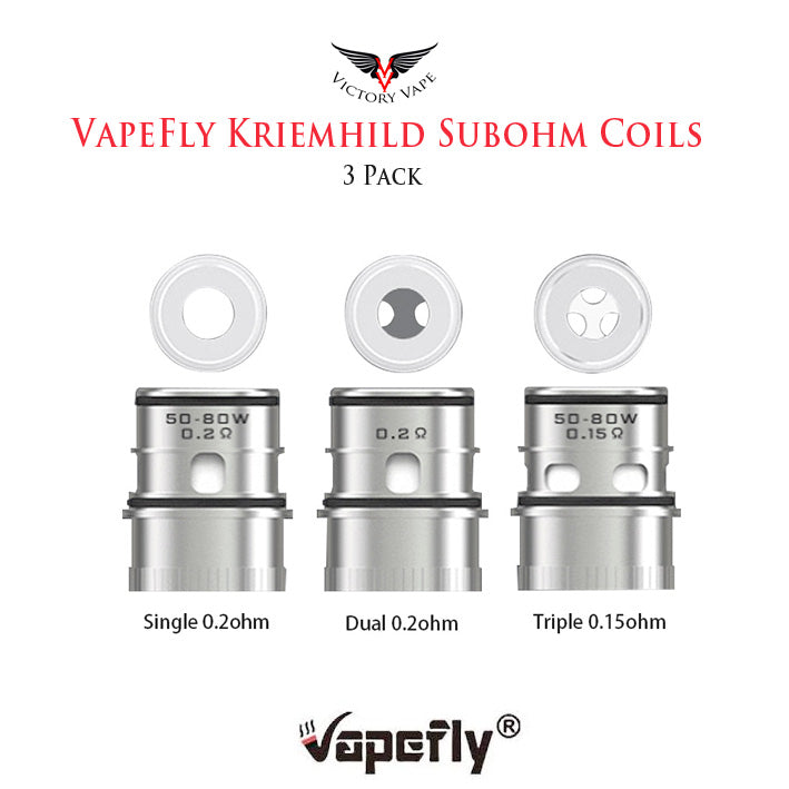 Vapefly Kriemhild Subohm Tank Replacement Coils • 3 Pack