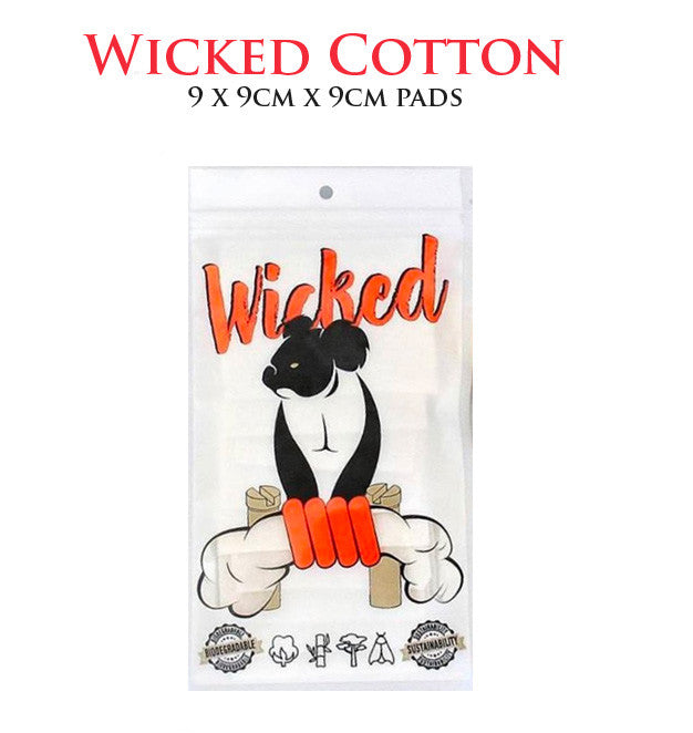 Wicked Cotton • 9 x 9cm x 9cm pads